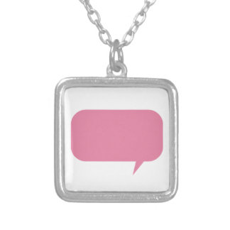 Pink speech bubble custom saying personalized gift personalized necklace