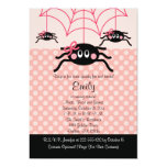 Pink Spider Halloween Birthday Invitations 13 Cm X 18 Cm Invitation Card