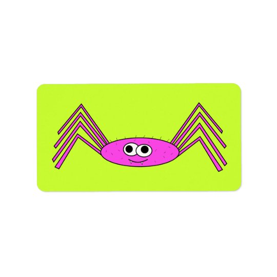Pink Spider on Label