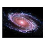 Pink Spiral Galaxy Postcard