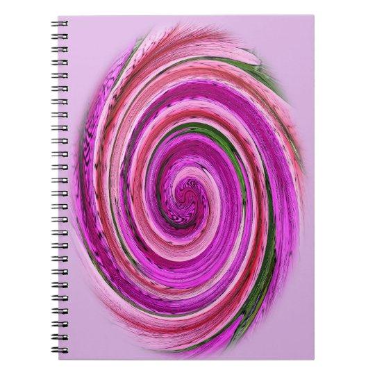 Pink Spiral on Spiral Notebook
