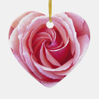 Pink Spiral Rose Christmas Ornament