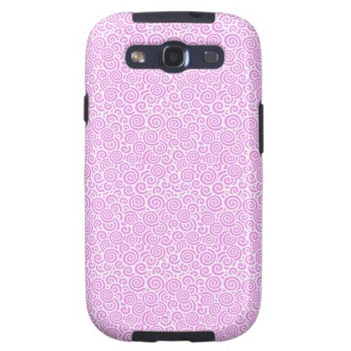Pink Spirals Galaxy SIII Cases