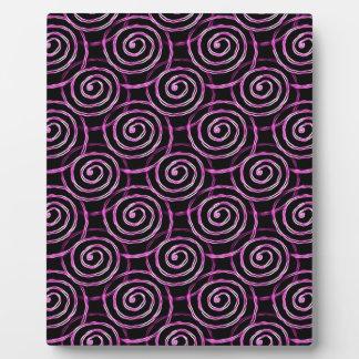 Pink Spirals Plaque