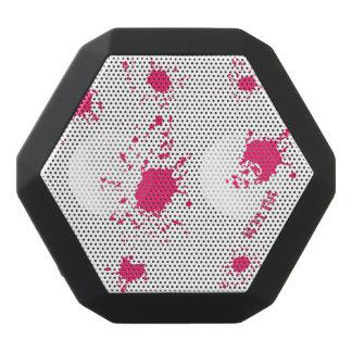 Pink Splash Paint Black Bluetooth Speaker