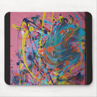 Pink Splat Painting Mouse Mat