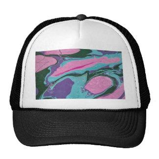 Pink Splatter Mesh Hats
