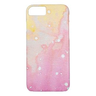 Pink Splatter Watercolour Case