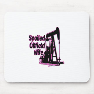 Pink Spoiled Oilfield Wife Mouse Pad