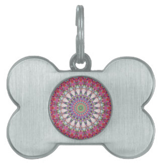 Pink Spoked Wheel Of Heaven Pet Name Tag
