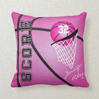 Pink Sport Basketball | DIY Name & Number Throw Pillow