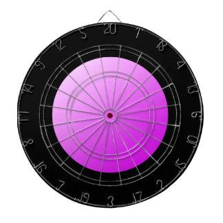 Pink spots on black. dartboard