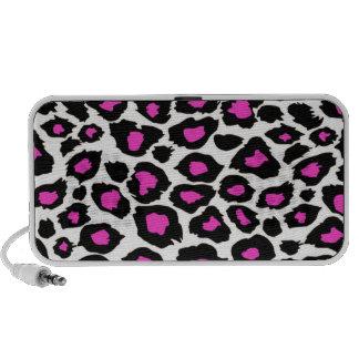 Pink Spotted Leopard Print Speaker