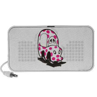 Pink Spotty Car Doodle Speaker