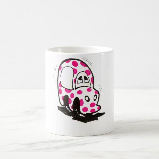 Pink Spotty Car Mug