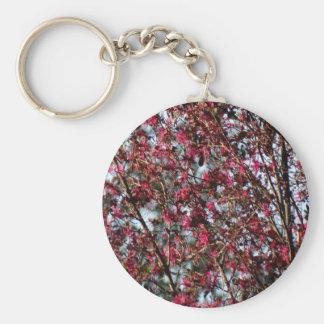 Pink Spring Blooms Key Ring