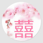 Pink Spring Blossom Chinese Wedding Save The Date