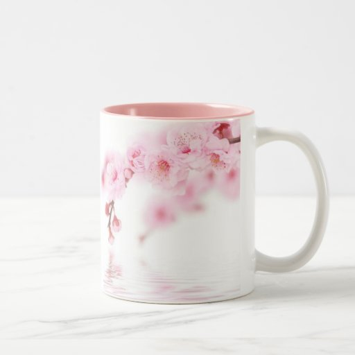Pink Spring Blossom Chinese Wedding Save The Date Mug