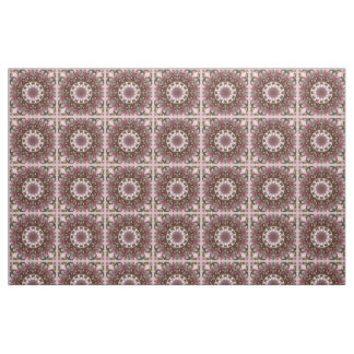 Pink spring blossoms 1.3, floral mandala style fabric