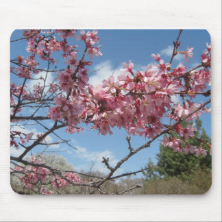 Pink Spring Blossoms Mouse Mat