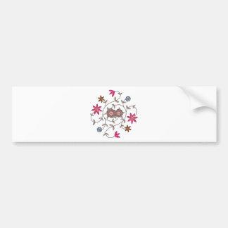 Pink Spring Flower Garden Bumper Sticker
