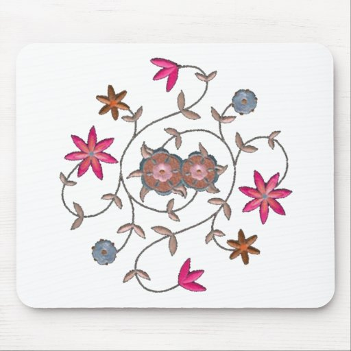 Pink Spring Flower Garden Mouse Pads