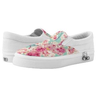Pink Spring Printed Shoes