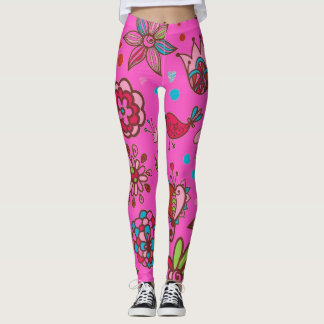 Pink Spring Time Leggings