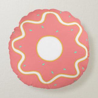 Pink Sprinkle Round Doughnut Pillow