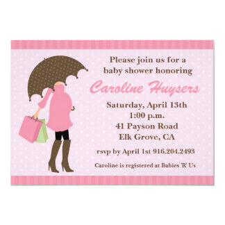 Pink Sprinkles Baby Shower Invitations