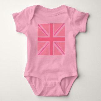 Pink Square Union Jack/Flag Baby Bodysuit