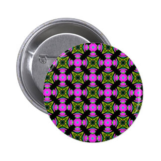 Pink Squared Design 6 Cm Round Badge