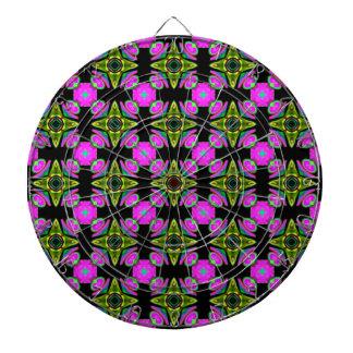 Pink Squared Design Dartboard