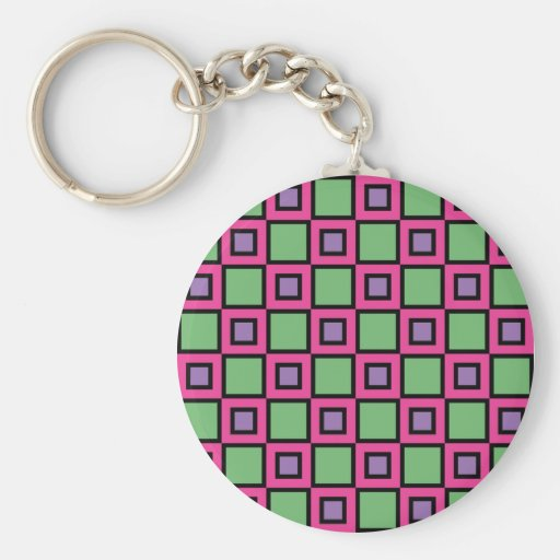 Pink Squared Key Chain