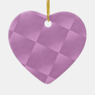 Pink Squares Heart Ornament