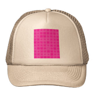 Pink Squares with a Little Heart Trucker Hat