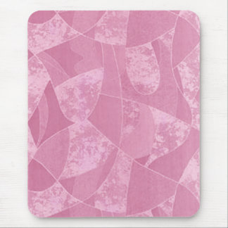 Pink Stain Glass Mouse Pad
