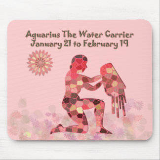 Pink Stained-glass Aquarius Mousepad