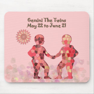 Pink Stained-glass Gemini Mousepad