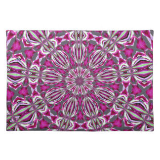Pink Stained Glass Kaleidescope Place Mats