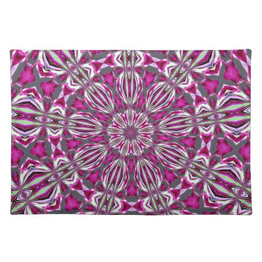 Pink Stained Glass Kaleidescope Placemats