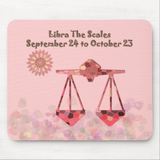 Pink Stained-glass Libra Mousepad