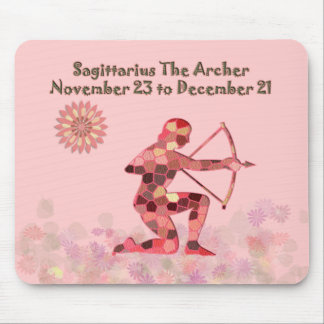 Pink Stained-glass Saggitarius Mousepad