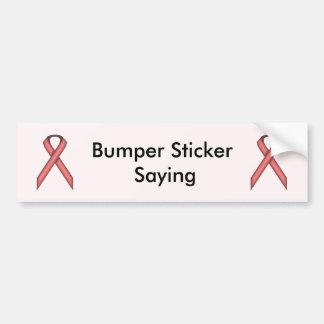 Pink Standard Ribbon Bumper Sticker