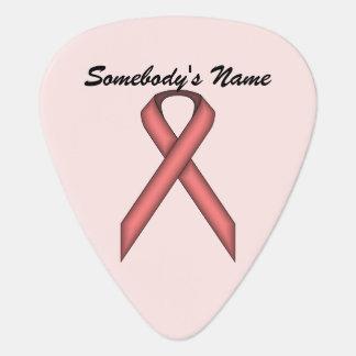 Pink Standard Ribbon by Kenneth Yoncich Guitar Pick