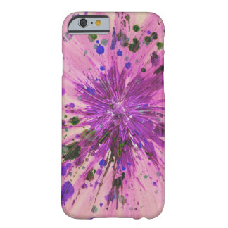 Pink Star Abstract Art Acrylic Painting Design Barely There iPhone 6 Case