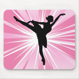 Pink Star Ballerina Mouse Pad
