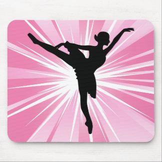 Pink Star Ballerina Mousepads