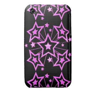 Pink Star Burst iPhone 3 Covers