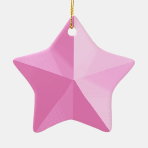 Pink Star Christmas Ornament Customisable Template